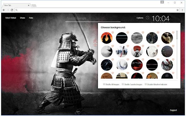 Samurai Wallpapers HD New Tab - freeaddon.com