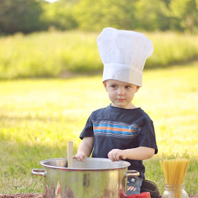 Lil' chef by Christy Kennedy - Babies & Children Child Portraits
