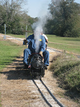 Photo: Pete Greene, covered over with steam.     HALS 2012-1117