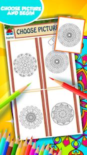 Mandala omalovánky k vytisknutí - náhled