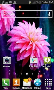 Pink Flowers Shine LWP screenshot 1