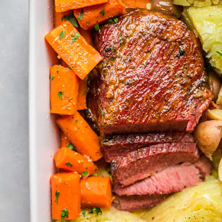 Slow Cooker Glazed Corned Beef & Cabbage.