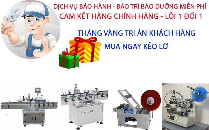 bảo hành bảo dưỡng máy dán nhãn miễn phí tại hà nội