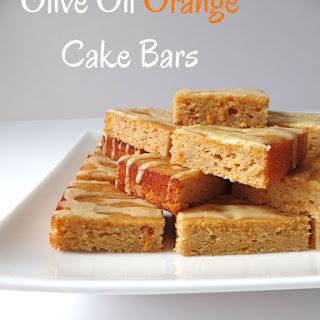 Olive Oil Orange Cake Bars
