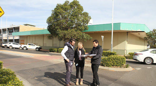 Narrabri Shire Council town planners, acting development and economic growth director Daniel Boyce, Cara Stoltenberg and Luke Flood, processed the DA for the Woolworths site redevelopment.