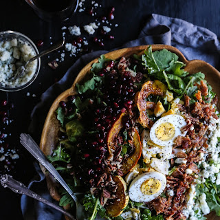 Autumn Kale and Brussel Sprout Cobb Salad with Maple Vinaigrette