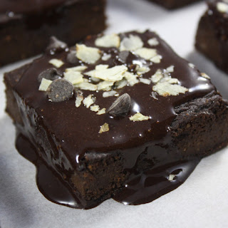Dark Chocolate Sweet Potato Fudge Brownies