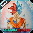 How To Draw Super Saiyan God Easy