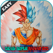 How To Draw Super Saiyan God Easy