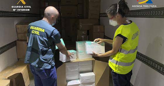 Intervenidas en Almería más de un millón de mascarillas KN95 que iban a Argelia