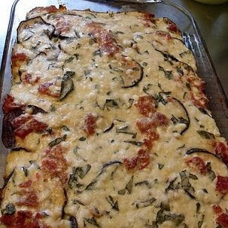Weight Watcher's Spinach and Eggplant Casserole.