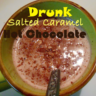 Drunk Salted Caramel Hot Chocolate