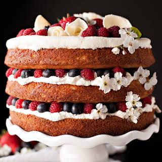 Vanilla Berries and Cream Cake.