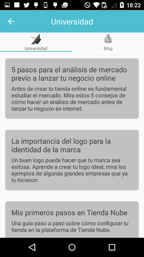 Universidad del Ecommerce: captura de pantalla