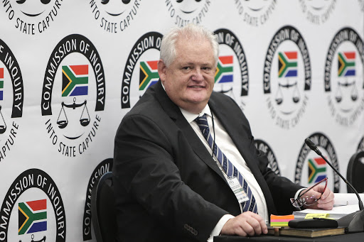 Former Bosasa COO Angelo Agrizzi at the Zondo commission, which is investigating allegations of state corruption. Picture: Alaister Russell/The Sunday Times