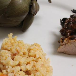 Oniony Pork Tenderloin with Mustard Wine Pan Sauce.