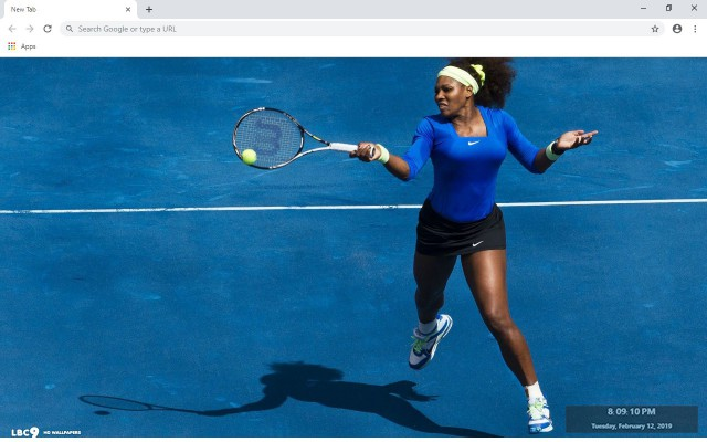 Serena Williams New Tab Theme
