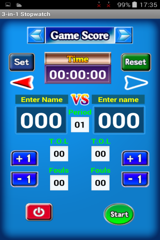Stopwatch 3 in 1- screenshot