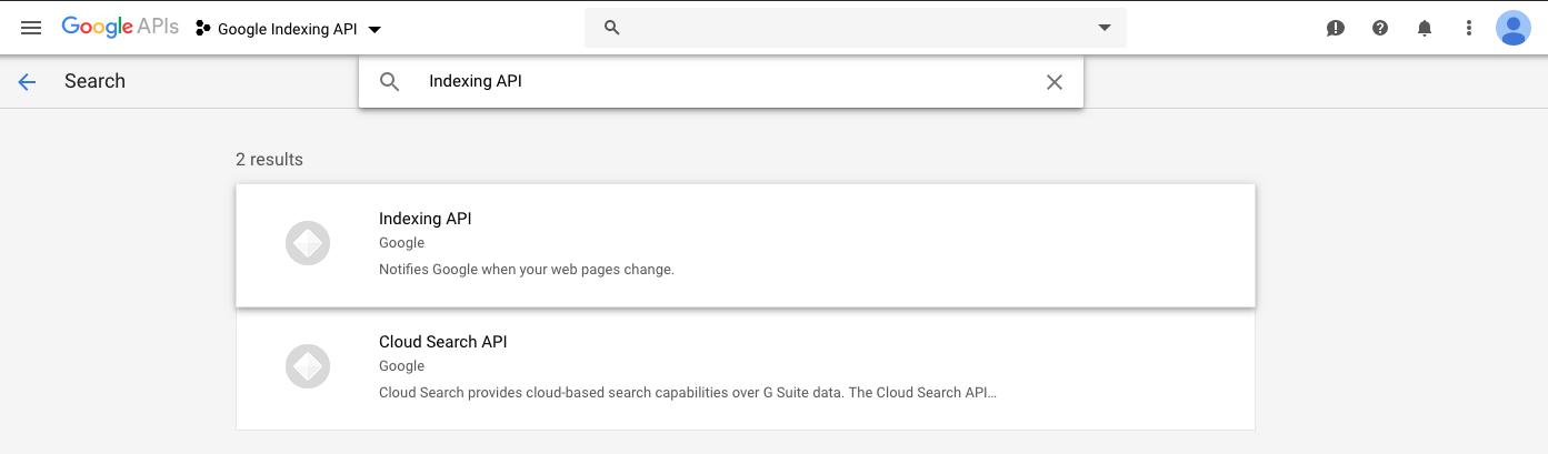 Google Indexing API - TalkForWeb