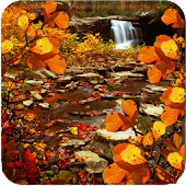 Autumn Waterfall Leaves