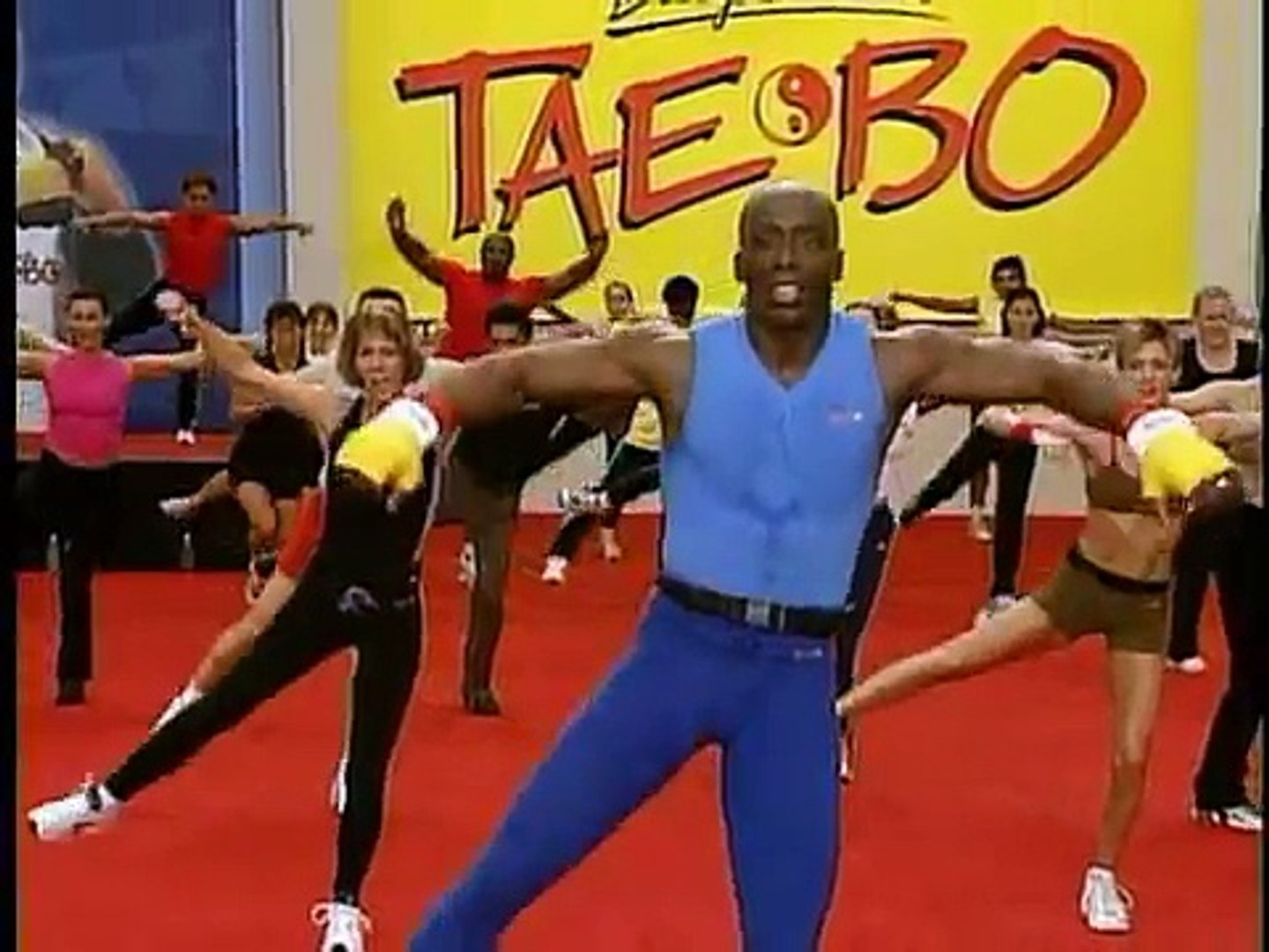 Billy Banks in one of his Tae Bo training videos. He is an important part of the history of physical training.