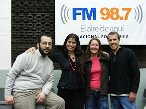 Photo: Mariel takes us to visit Argentinian national radio