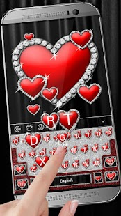 Love & Hearts Keyboard Theme - náhled