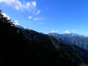 左に劔岳(この日唯一の山頂・・・)