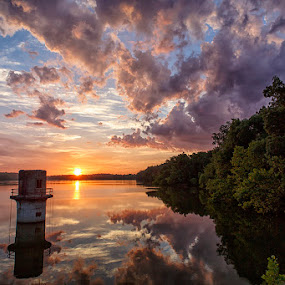 Lake Fayetteville by Jay Stout - Landscapes Sunsets & Sunrises