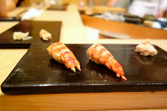 Photo: Kuruma ebi. Intensely sweet and juicy, quite different to the shrimp we had as otsumami.