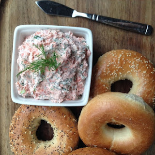 Easy 4-ingredient Smoked Salmon Spread.