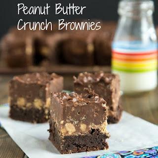 Peanut Butter Crunch Brownies.