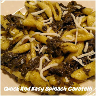 Quick And Easy Spinach Cavatelli