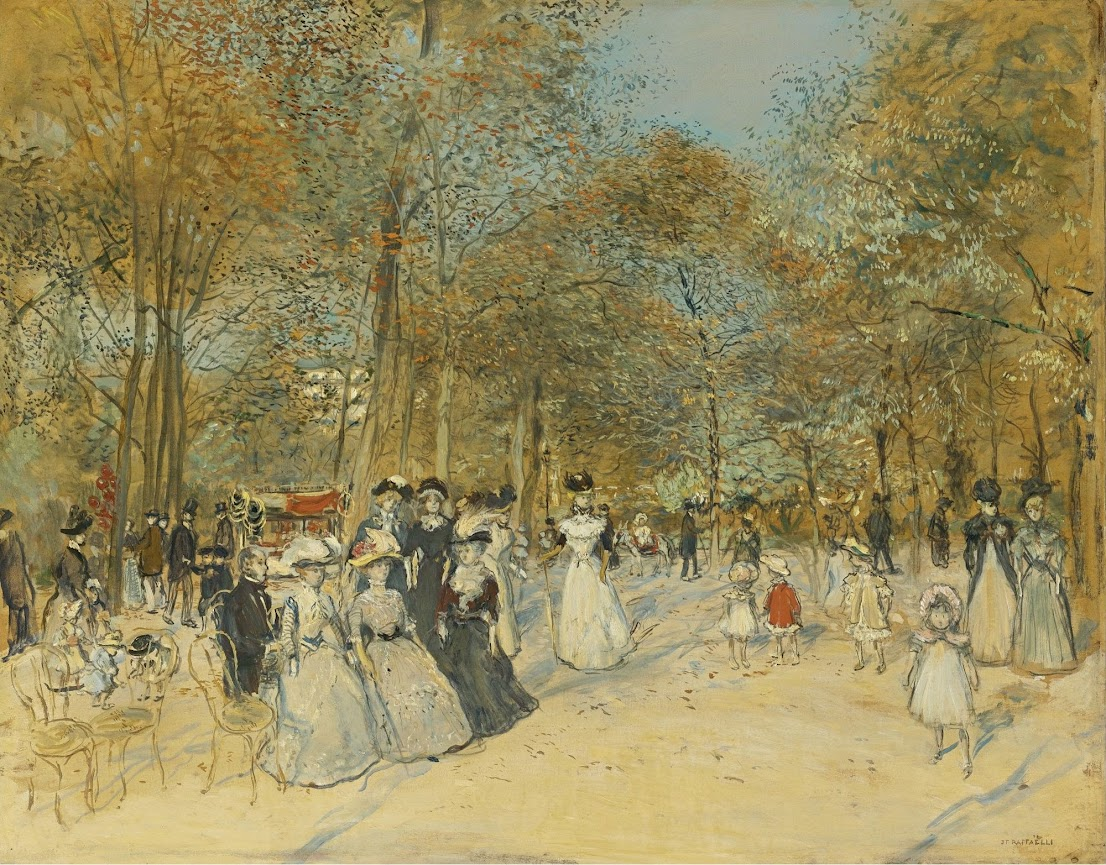 The Champs-Elysees by Jean-François Raffaëlli c1880.