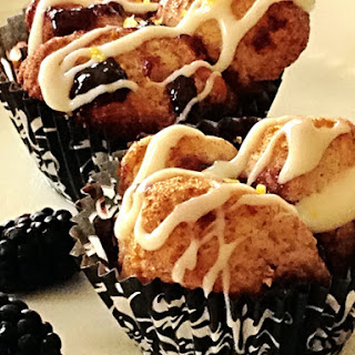 Blackberry Monkey Bread Muffins