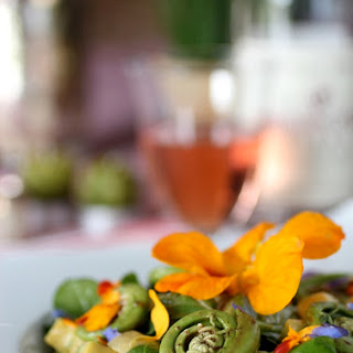Fiddlehead & Flower Month-of-May Salad