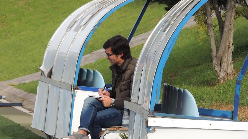 Mario Silva, este martes en el campo Anexo.