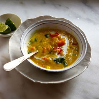 Easy Thai style red lentil soup.
