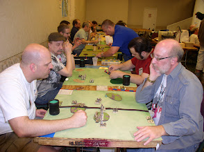 Photo: Pyramid Tourney in Pyramid Times - Cold Wars 2012 Round 1 - Single DBA Matches Jeff Franz (left) Early Hebrews vs. Larry Chaban (right) NKE