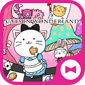 Cute Wallpaper Cats in Wonderland Theme