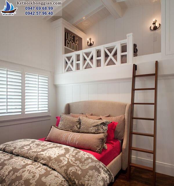 thiết kế phòng ngủ cho bé ở trên cao