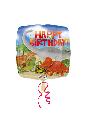 Folieballong, happy birthday dinosaurier