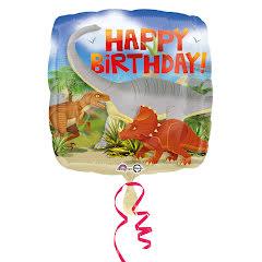 Folieballong, happy birthday dinosaurier