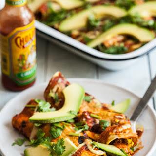 Tofu Scramble Black Bean Vegan Breakfast Enchiladas Recipe