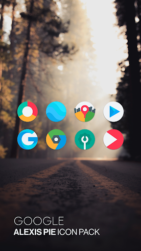 Screenshot for Alexis Pie Icon Pack - Clean and Minimalistic in United States Play Store