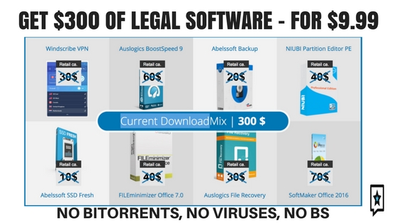 GET $300 of software for 9.99