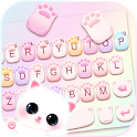 Cute Cat Paws Keyboard Background icon