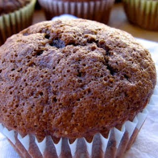 Healthy Double Chocolate Bran Muffins.