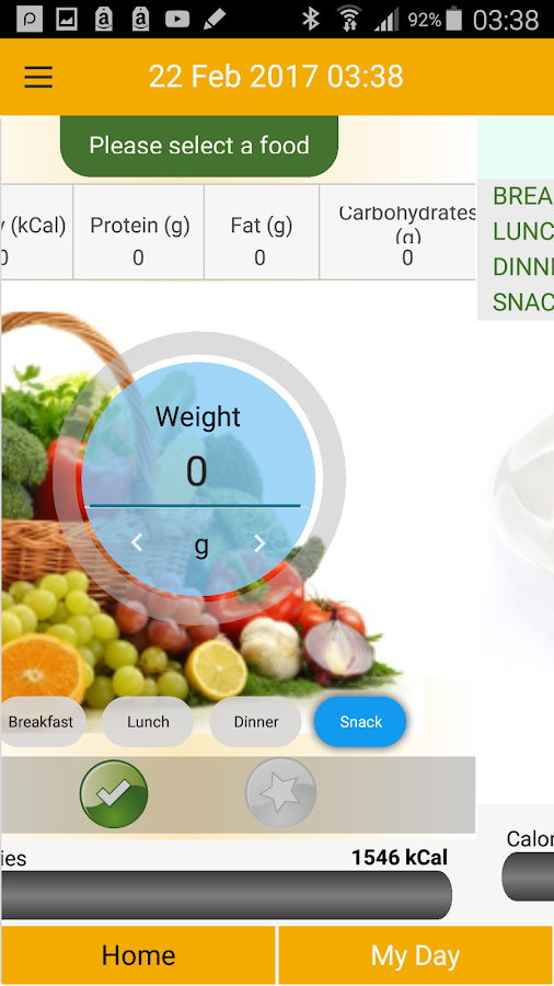 fitmefit Food – Screenshot