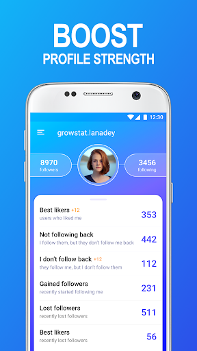 GrowStat: followers reports for instagram - screenshot